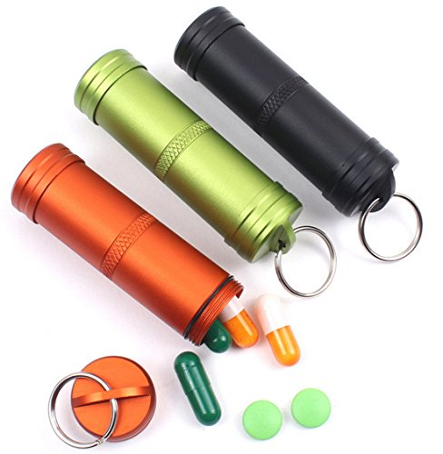 10 pcs Aluminum Sealed Waterproof Tank Outdoor Emergency Medicine Box EDC Survival Equipment by RoyalTop