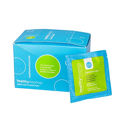 healthy hoohoo All Natural Gentle Femine Wipes Individually Wrapped (Pack of (Sweet Spot Wipes)