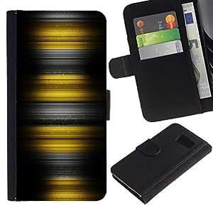 All Phone Most Case / Oferta Especial Cáscara Funda de cuero Monedero Cubierta de proteccion Caso / Wallet Case for Sony Xperia Z3 Compact // Yellow Stripes