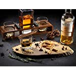 Whiskey-Stones-Gift-Set-for-Men-Whiskey-Decanter-Set-With-Wood-Stand-Bourbon-Decanter-with-Scotch-Glasses-8-Granite-Whiskey-Stones-Ideal-For-Whiskey-Lovers-Gift-Set-For-Dad-Husband-Boyfriend
