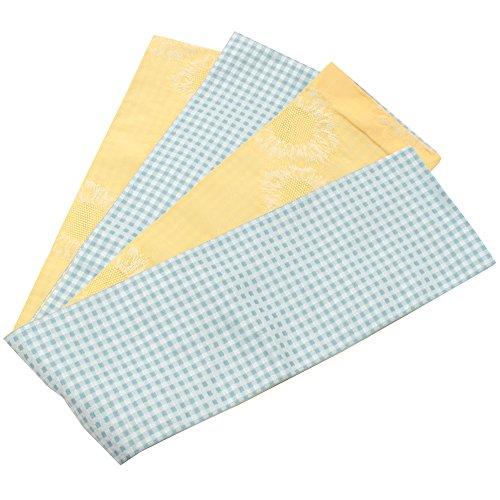 芸術的最初は爆弾(キステ)Kisste リバーシブル半幅帯 水色格子×黄色 5-8-02920