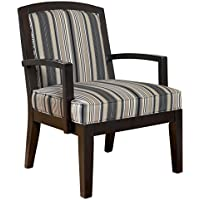 Ashley Furniture Signature Design - Yvette Showood Accent Chair - Upholstered - Contemporary Living - Black
