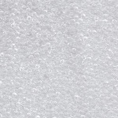 Clear Round Glass Beads (1 X Crystal Clear Miyuki Japanese round rocailles glass seed beads 11/0 Approximately 24 gram 5 inch tube)