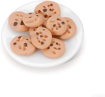 Timeless Miniatures-Chocolate Chip Cookie Plate Darice 2318-19