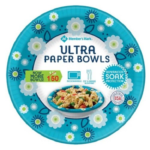 Member's Mark Ultra Paper Microwaveable Bowl, Advanced Soak