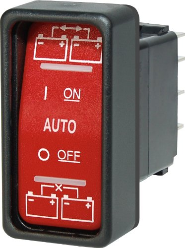 Blue Sea Systems SPDT Remote Control ON-OFF-ON Contura Switch for ML Automatic Charging Relays by Blue Sea Systems