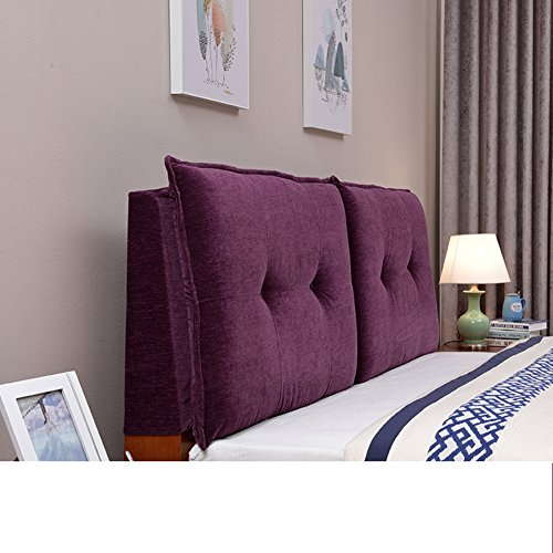 UYHSAUDGHFHE European-Style headboard Cushions Soft Bag backrest Tatami Double Cushion Bedroom Washable Cushion-H 160x60cm(63x24inch)