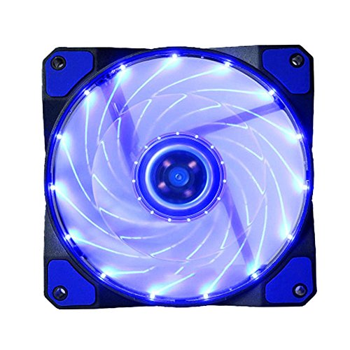 MINBB 120mm Case Fan Ultra-Silence RGB Fan Pc Fan Clear Fan Cooling Fan 3-4Pin Led Lights 120mm Multicolor Dc12V Computer Case DIY Heat Sinks from MINBB