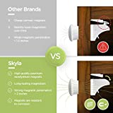 Skyla Homes - Magnetic Cabinet Locks (12-pack) Baby Proofing & Child Safety - The Safest, Quickest and Easiest Multi-Purpose 3M Adhesive Child Proof Latches, No Screws or Tools Needed
