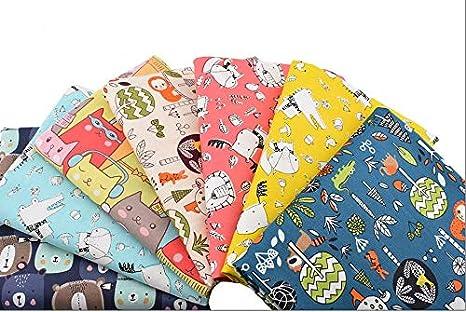 6 Telas infantiles ositos zorritos100% algodon canastillas, vestiditos, cojines, cocina, guirnaldas, manualidades de costura 40 x 50 cm de CHIPYHOME