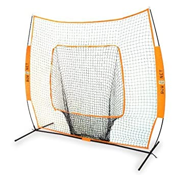 Bownet 7 x 7 Original Big Mouth Portable Training Sock Net with Strike Zone Attachment