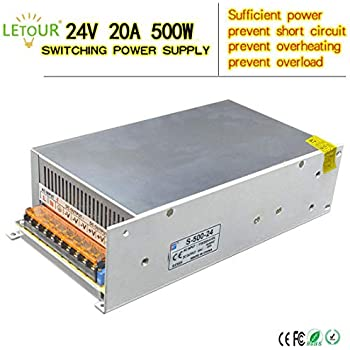Amazon.com: LETOUR LED Power Supply 24V 20A 500W AC 96V-240V ... on computer power supply wire, computer power supply pinout, at power supply pinout diagram, atx connector diagram, atx power supply pinout diagram, computer power supply cord, usb cable wire color diagram, motherboard front panel diagram, power supply connector diagram, computer power supply components, computer power supply connector, power supply pin diagram, atx power supply schematic diagram, retractable cord reel diagram, software defined radio block diagram, computer power supply troubleshooting, cpu power supply diagram, computer power supply unit, computer schematic diagram, motherboard connection diagram,