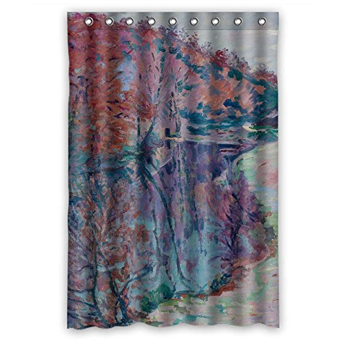 Zeezon Bathroom Curtains Of Art Painting Jean   Baptiste   Armand Guillaumin   Bords De La Sedelle Crozant Polyester Width X Height   48 X 72 Inches   W H 120 By 180 Cm Best Fit For Cust