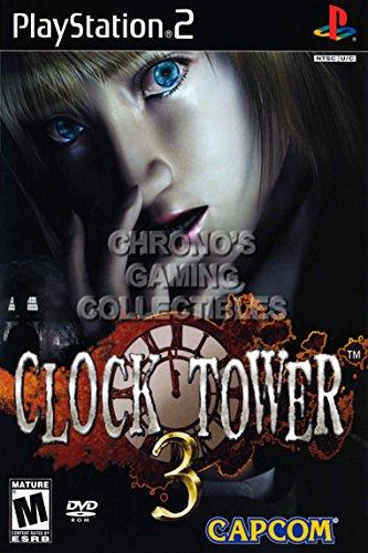 "CGC Huge Poster - Clock Tower 3 - BOX ART Sony Plastation 2 PS2 - PS2050 (24"" X 36"")"