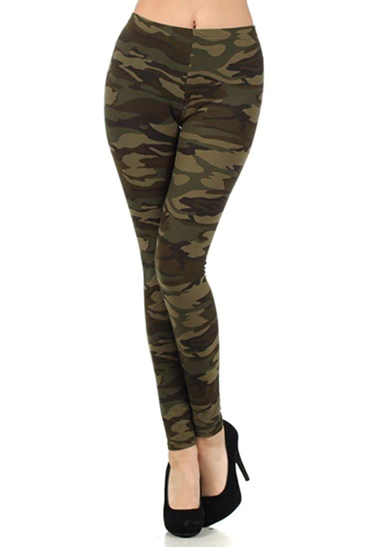 NioBe Clothing Women's Army Military Camouflage Various Pattern Leggings
