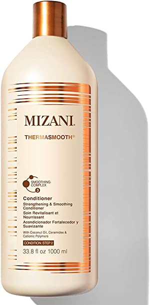 MIZANI Thermasmooth Anti-Frizz Conditioner | Conditions & Smooths Textured Hair | with Coconut Oil | for Dry Hair