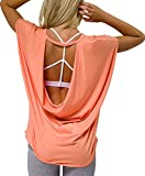 Onzie Women's Drop Back Tank Top (Peach, OneSize)
