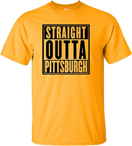 XXXXX-Large Gold Adult Straight Outta Pittsburgh T-Shirt