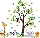 Jungle Animal Wall Decals - Nursery Wall Decals - Safari Themed Nursery Decor - Baby Room Furniture - Baby Shower Gift - Reusable Decals - Baby Boys - Baby Girls - Baby Stuff - Kids Room