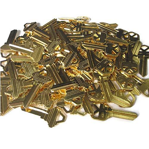 (MSPowerstrange 50 Key Blanks for Locksmith (30 KW1 and 20 SC1) / Brass/Made by Ilco)