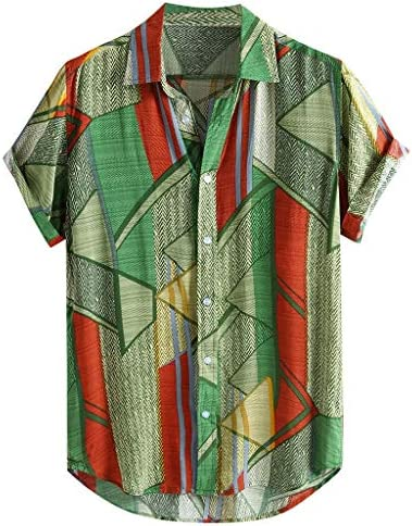 AILMY Mens Shirts Short Sleeve Hawaiian Single Breasted Loose Buttons Casual Tops Great for PartyDailyBeach / AILMY Mens Shirts Short Sleeve Hawaiian Single Breasted Loose Buttons Casual Tops Great for PartyDailyBeach