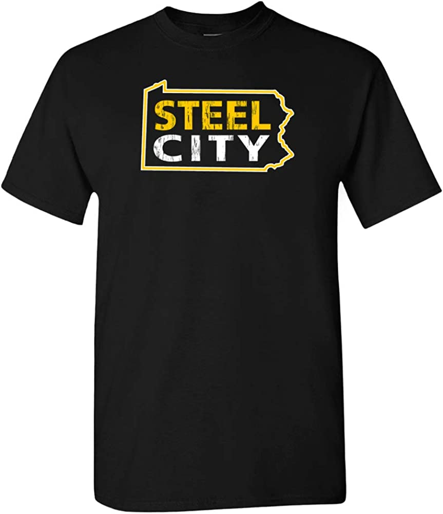 Xtreme Apparrel Steel City Pittsburgh Home Map Shirt