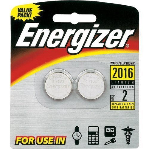 3V Lithium Button Cell Battery Retail Pack - 2-Pack (2016BP-2) - by Energizer