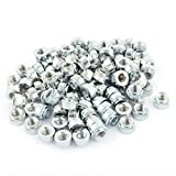 Portal Cool M6-3 Knurled Metal Self Clinching Nut Fastener 100pcs for 2mm Thick Thin Plate