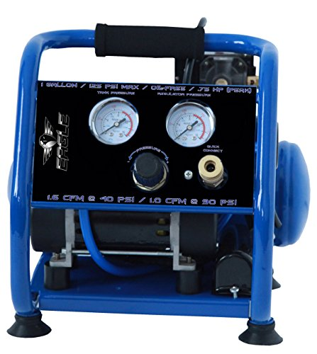 - Eagle EA-2000 Silent Series 2000 Air Compressor 125 psi MAX psi Hot Dog with panel, Blue, 1 gallon