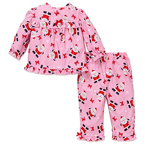 Little Me Baby Girls' 2 Piece Holiday Pajamas,