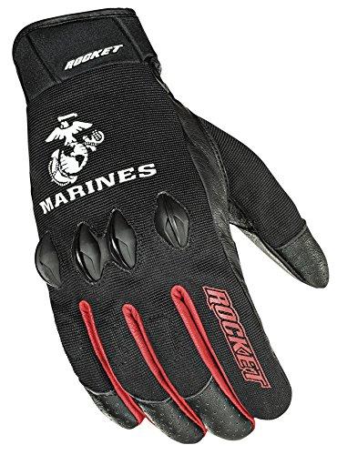 Joe Rocket Marines Stryker Mens Black Mesh Motorcycle Gloves - Large -