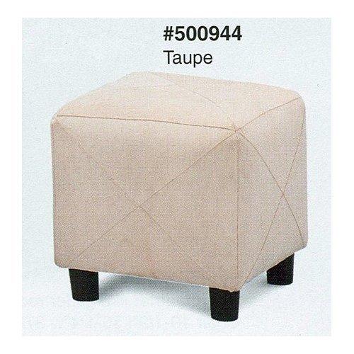 Microfiber Cubes Footstool Ottoman