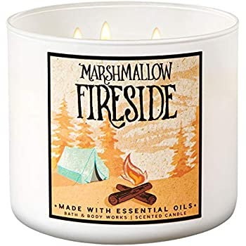 Bath and Body Works 2018 Holiday Limited Edition 3-Wick Candle (Marshmallow Fireside)