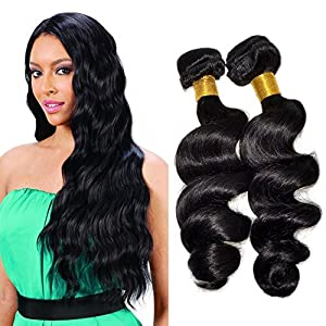 Feelontop 100% Malaysian Loose Wave Thick Natural Braiding Hair Wet and Wavy Extension 10 PCS 6a Unprocessed Hair…