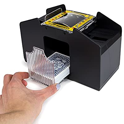 Jobar Easy Automatic 2 Deck Playing Card Shuffler Machine : Sports & Outdoors