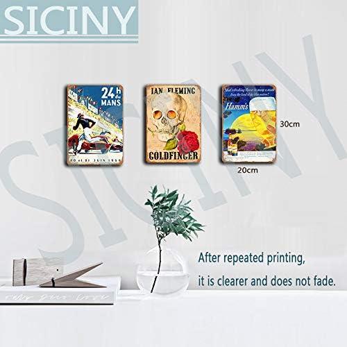 Siciny Alchemy Empire Aeternum Pax Britannica - Póster de Robot de Vapor para decoración de Pared de Metal para Sala de Cine de niños, Sala de Teatro, Aperitivo, Bar, Lata, 30,5 x