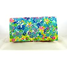 Coupon Organizer Holder Watercolor Floral Fabric