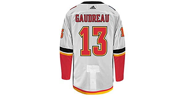 on sale 7cf9f bed1c Amazon.com : Johnny Gaudreau Calgary Flames Adidas Authentic ...