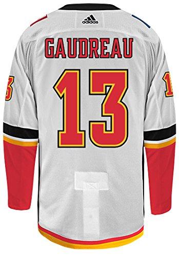 Amazon.com   Johnny Gaudreau Calgary Flames Adidas Authentic Away ... 2c3d112e094