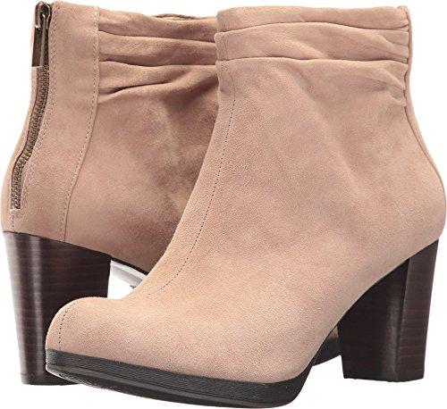 Bella Vita Women's Landon Ankle Bootie, Almond Kid Suede, 8.5 W US