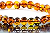 Baltic Amber Bracelet for Adults Made on Elastic