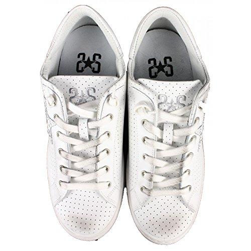 2 Star Scarpe Uomo Mod. Sneaker Low Bianco Art.2SU1820