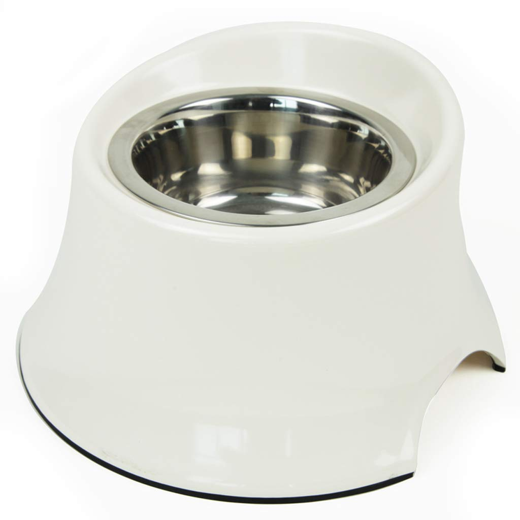 A-s TY-Pet feeder Dog food bowl dog pot stainless steel dog bowl single bowl double bowl cat pot (color   A-s)