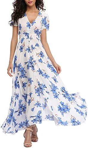 VintageClothing Womens Floral Dresses Button