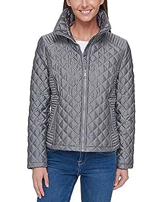 Marc New York Ladies' Quilted Jacket (Gray, Medium)