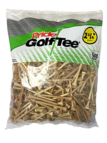 Pride Golf Tee, 2-3/4-Inch Deluxe Tee, 100 Count Bag, Natural