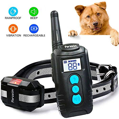 Dog Training Collar with Remote 2019 Upgraded Rainproof & Rechargeable Dog Electric Shock Collar with Beep Vibration and Shock No Bark Collar for Small Medium Large Dogs from Vivostore