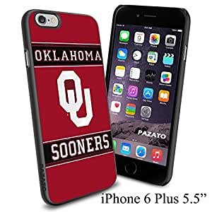 "NCAA QU OKLAHOMA SOONERS , Cool iPhone 6 Plus (6+ , 5.5"") Smartphone Case Cover Collector iphone TPU Rubber Case Black"