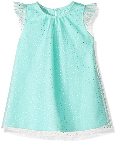 Dot Glitter Dress (Crazy 8 Baby Toddler Girls' Sleeveless Dressy Woven Dress, Mint Glitter Dot, 12-18 Mo)