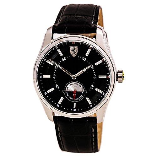 Scuderia Ferrari GTB Black Dial SS Leather Multi Quartz Male Watch 830231